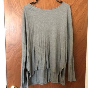 Aerie real soft gray long sleeve t shirt
